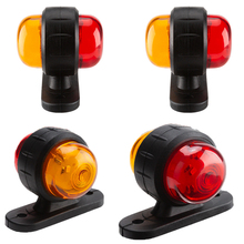 4PCS  Automatic Stop Signal 12V 24V Replacement Parts Mini Durable Trailer Truck Universal Safety Turn Signal Warning Red