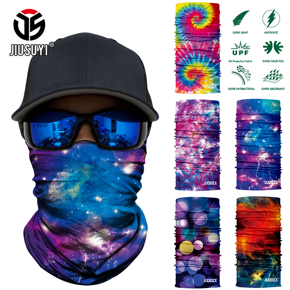Galaxy Universe Print Scarf Neck Gaiter Bandanna Circle Loop Summer Sun Protective Neck Tube Ring Scarves Men Headwear Face Mask