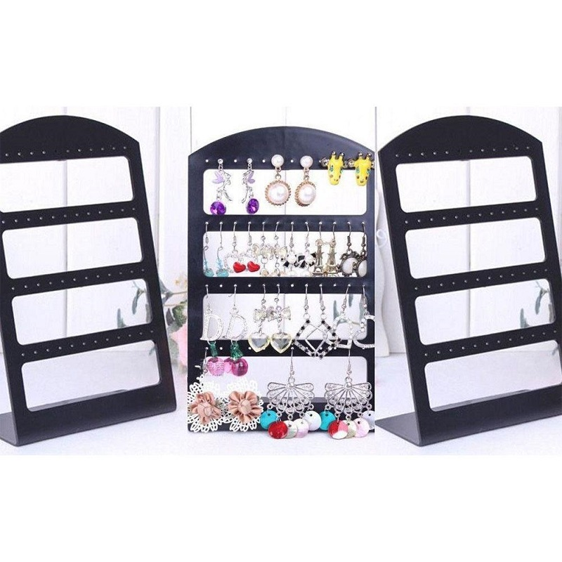 48 Holes Jewelry Packaging Stud Earrings Display Showing Stand Rack Plastic Show Organizer Storage Holder Dropshipping