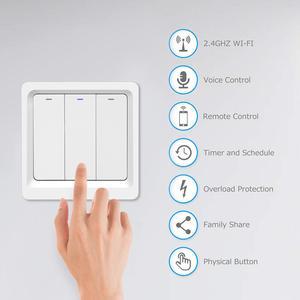 Image 3 - Tuya bezprzewodowy pilot zdalnego sterowania włącznik światła ue ścienne przycisk inteligentny przełączniki wsparcie Alexa, Google domu, przełącznik sterowania głosem