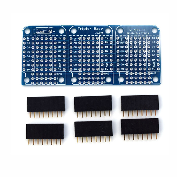 Tripler Base Socket V1.0.0 For D1 Mini Development Board