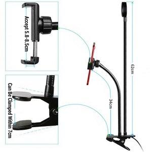 Image 4 - Universel Selfie Lumière avec Portable Flexible Support Pour Téléphone Support Paresseux Bureau Lampe Lumière LED POUR LE flux En Direct Bureau Cuisine