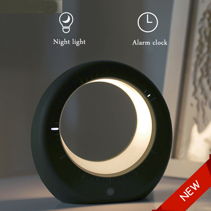 LED Moon Alarm Clock Light Night Lighting Gadgets Night Lamps