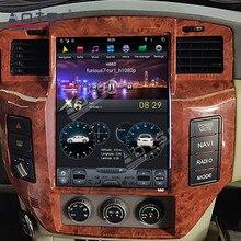 13,6 zoll Tesla Stil Android 9 4G 64GB Bildschirm Auto Radio GPS Navigation Für NISSAN PATROL 5 Y61 kopf Einheit Multimedia Player PX6