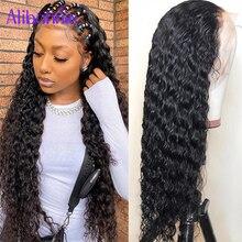 13X6 agua onda de encaje frente pelucas de cabello humano para las mujeres 5X5 13x4 HD transparente peluca Frontal de encaje brasileño de Remy Peluca de cabello humano