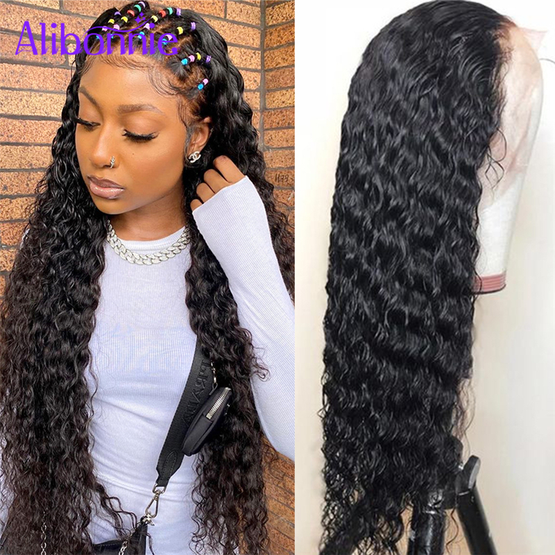 13X6 Water Wave Lace Front Human Hair Wigs for Women Human Hair Wig 13X4 Natural wigs High Density Pre Plucked Brazilian Curly