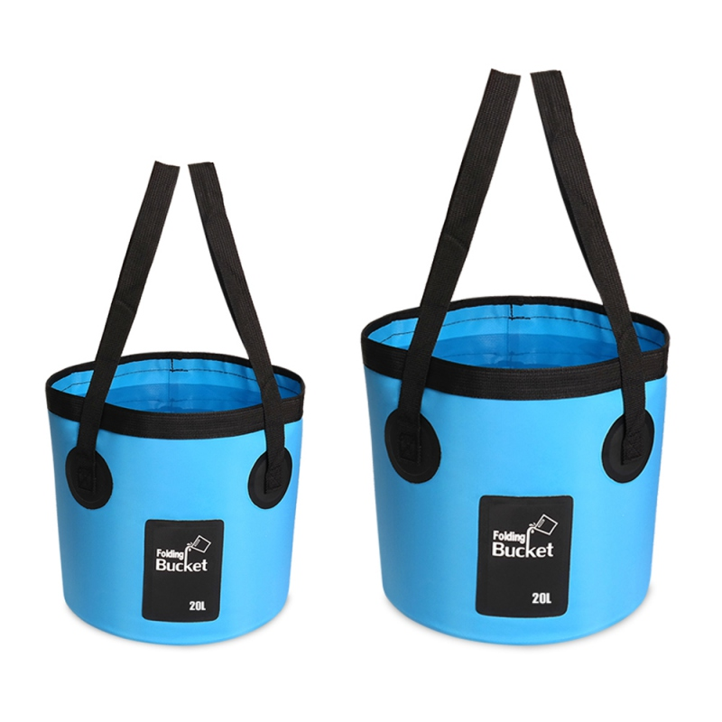 12L/20L Folding Fishing Bucket Outdoor Multifunctional Car Wash Bucket Water Storage Container Bucket for Camping Hiking Travel