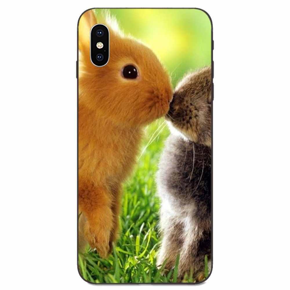 Para Xiaomi Redmi Note 3S 3S 4 4A 4X4 5X5 5A 6 6A 7 7A K20 Plus Pro S2 Y2 Y3 TPU Protector de pantalla encantador lindo de dibujos animados Bunny conejo