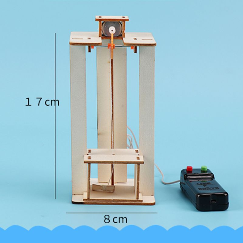 DIY DIY Electric Elevator Lift Model Children Boy Toys Science Experiment Puzzles Kits Creative Innovation Education For School