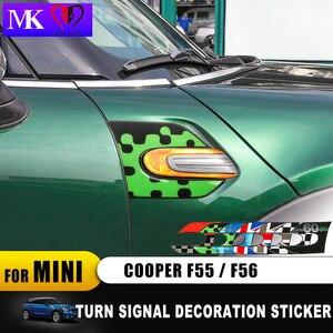 Image 3 - 2 قطعة 60 سنة سيارة بدوره إشارة درابزين الايبوكسي 3D الديكور غطاء ملصق ل ميني كوبر F54 كلوبمان F55 F56 F 54 اكسسوارات السيارات