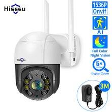 Hiseeu 1536P 1080P سرعة قبة اللاسلكية WIFI كاميرا 2MP 3MP في الهواء الطلق 5x الرقمية التكبير PTZ IP كاميرا الصوت CCTV مراقبة Onvif