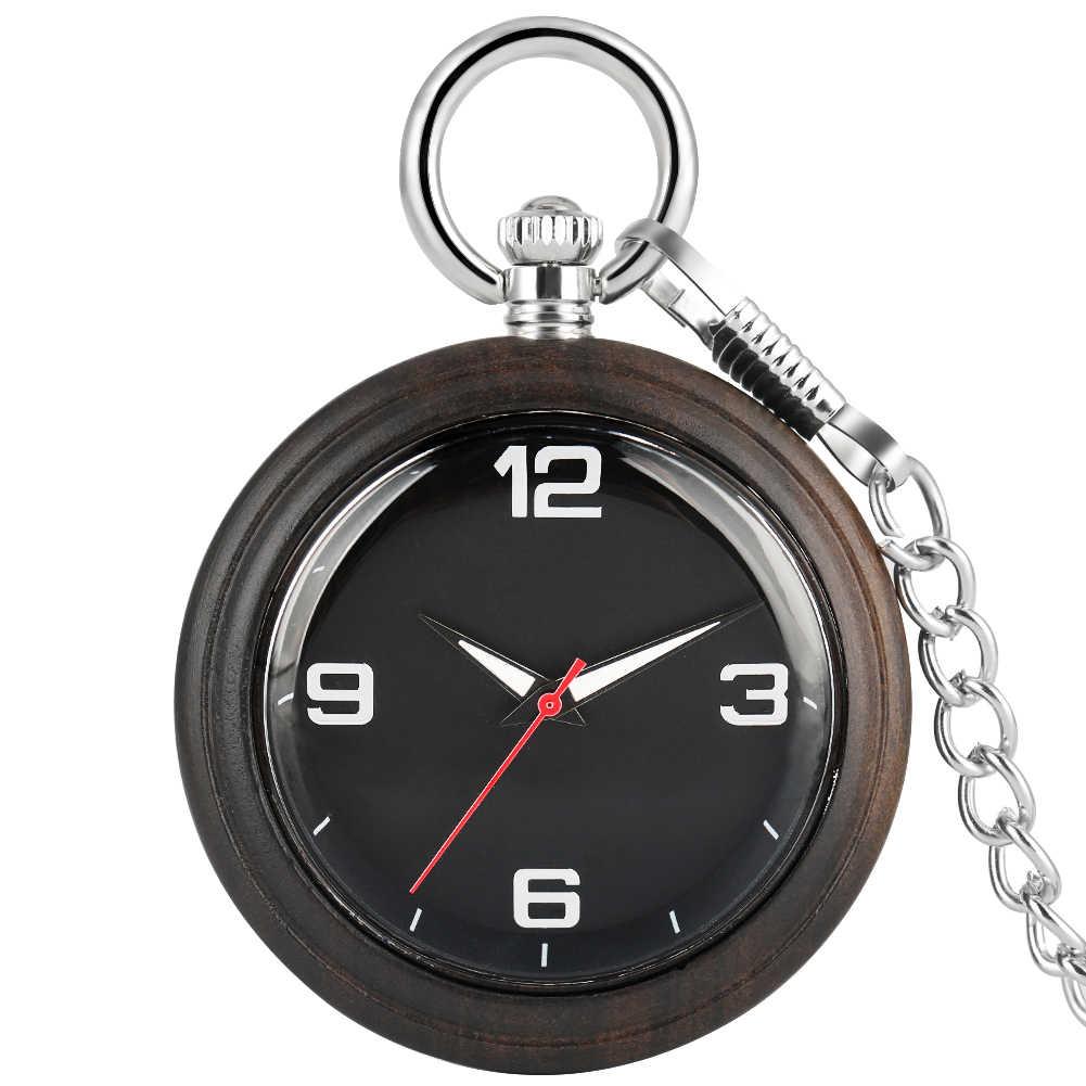 Homens de quartzo Relógios de Bolso Colar de Corrente Concisa Woooden Dial Liga Relógio de Presente relógio de bolso Cadeia Mulheres Pingente De Madeira Em Bruto