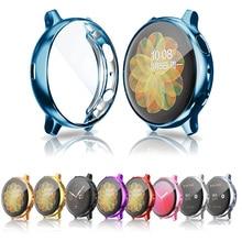 Capa protetora para samsung galaxy watch active 2 capa de silicone macio proteção de tela ultra fina para galaxy active 40mm 44mm