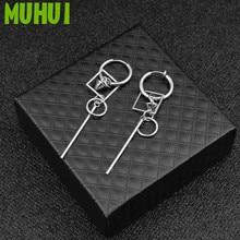 1pc Kpop Titanium Steel TVXQ Earrings For Women Kim Jae Joong Same Style Square Men Jewelry EH-567 kpop ss501 kim hyun joong silicon bracelets luminous bracelet wristband pulseras 19278