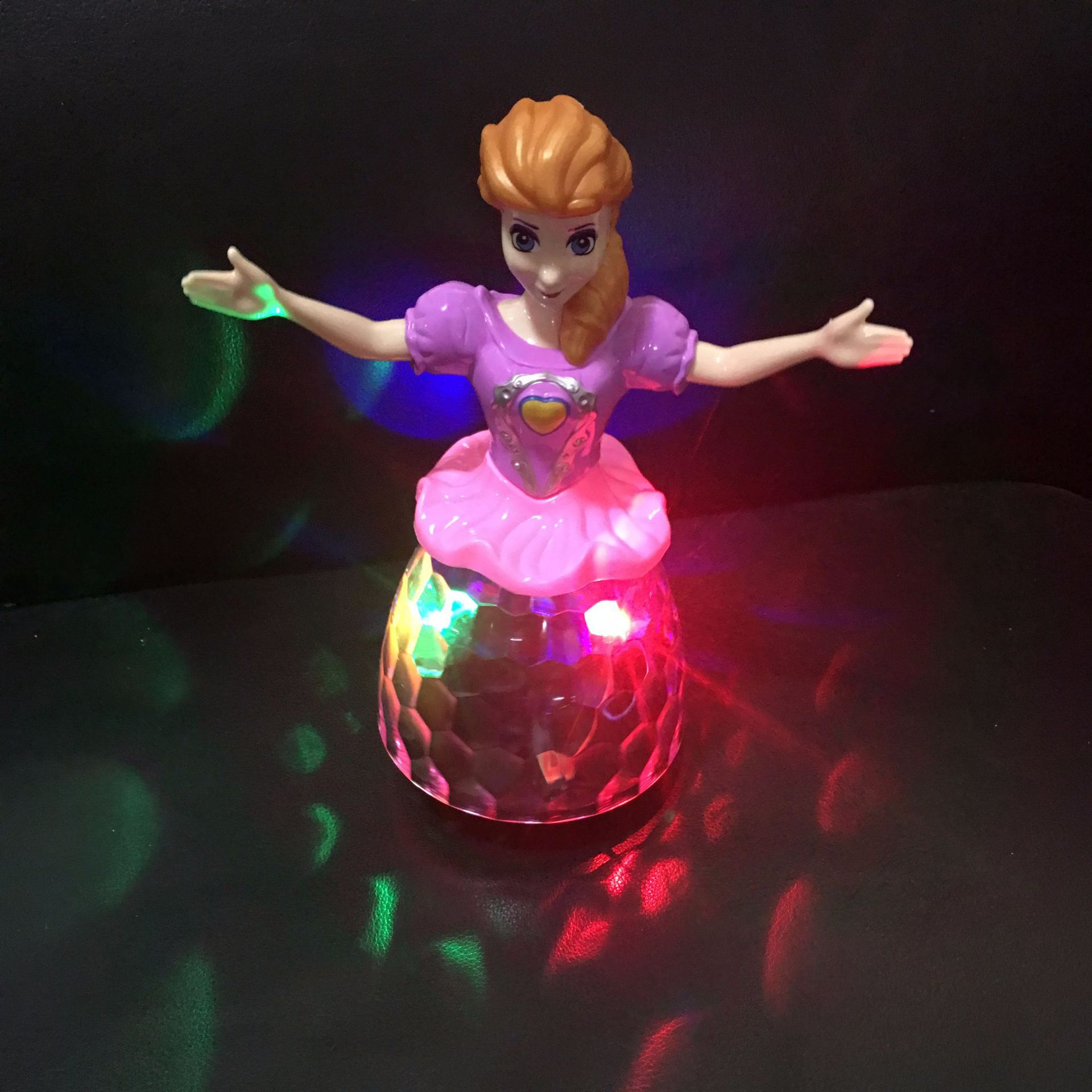 New Style Dancing Princess Children Baby Electric Universal Flash Music Dancing Princess Toy