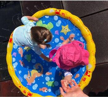 Piscina bebé salpicadura de agua estera de pulverización divertido jugar al agua piscina al aire libre juguete 2