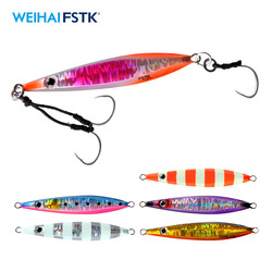 fishing lure metal jig Slow Jig Metal Casting Spoon 20g/40g/60g/80g Artificial Bait Off Shore Lead Cast Jigging Fishing Tackle
