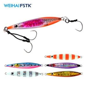Металлическая приманка для рыбалки, медленное джиг, металлическое литье, ложка 20 г/40 г/60 г/80 г, искусственная приманка для рыбалки