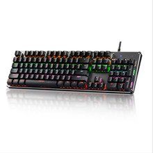 Gaming Mechanical Keyboard USB RGB/Mix Backlit Wired Keyboard 104 Anti-ghosting For Game Laptop PC russian english layout metal keyboard blue red switch gaming wired mechanical keyboard rgb anti ghosting for computer