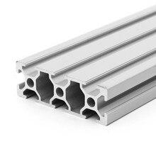 Rail linéaire en aluminium 2060 pour bricolage, 100-600mm de longueur, 200mm 400mm 500mm pour établi d'imprimante 3D, 1 pièce/lot