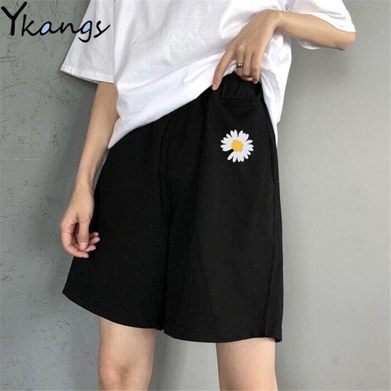 High Waist Summer Running Shorts Women Artoon Shorts Women Loose Vintage Harajuku Biker Casual Shorts Feminino Sport Baggy Short