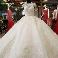 LS65309 großhandel luxus kleid kleid oansatz cap sleeve lace up aliexpress schönheit braut hochzeit dressing kleid 2018 neueste design