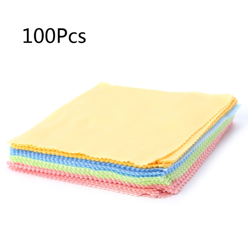 100PC Clean Polishing Cloth For Sterling Silver Gold Platinum Jewelry Anti Dust