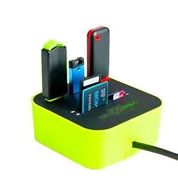 Hub usb combo tudo em um leitor de cartão de alta velocidade usb 2.0 micro sd 3 portas adaptador conector para tablet computador portátil