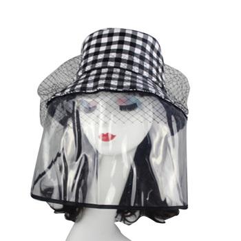 Anti-plutting ochronny kapelusz typu bucket z pyłoszczelną przezroczystą zdejmowana pokrywa Outdoor Women osłona na twarz kapelusz dostawy pszczelarskie tanie i dobre opinie Pszczelarstwo Kapelusze Other