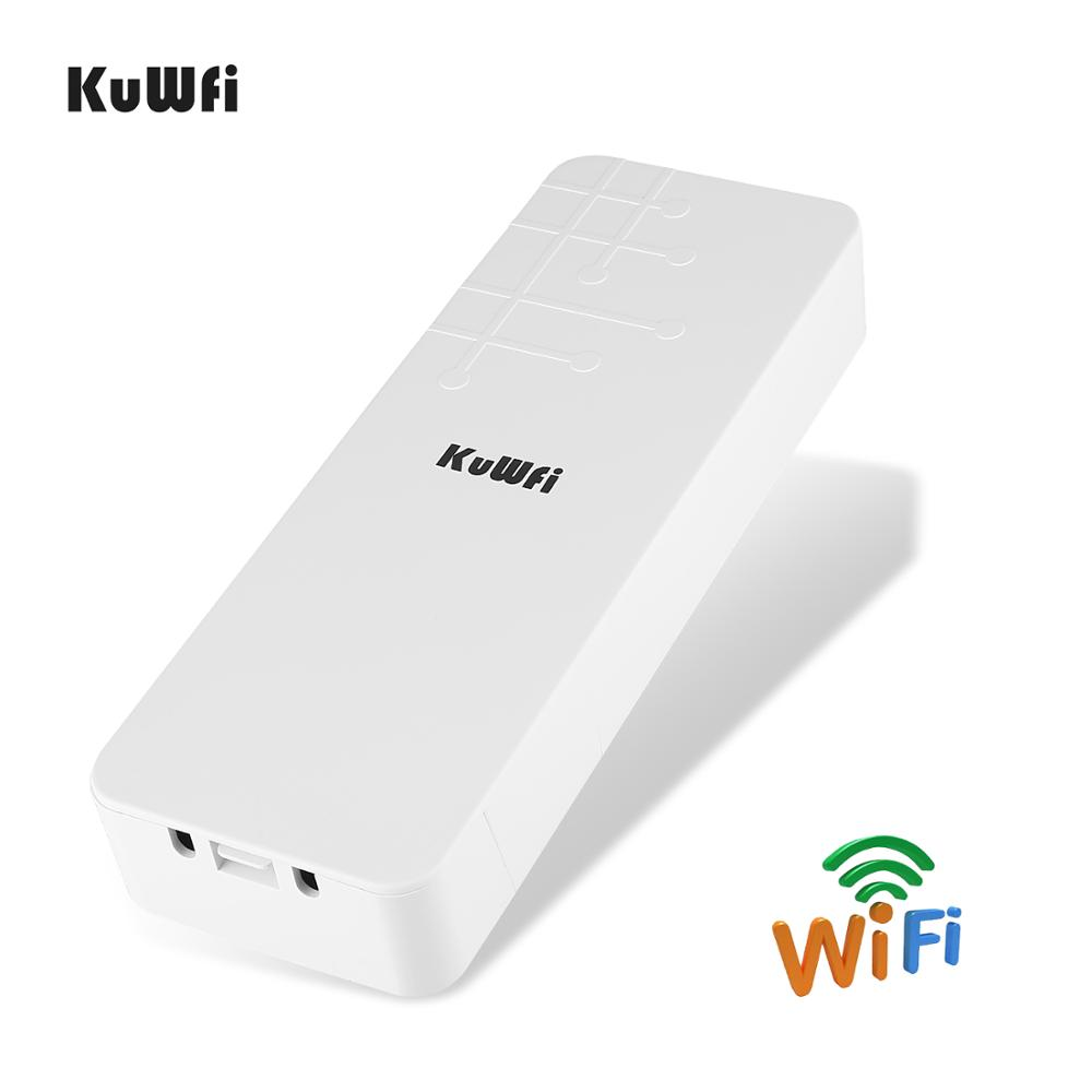 Image 2 - KuWFi Outdoor CPE Router Wifi Extender Qualcomm 9531 Speed Up To 300Mbps Wireless CPE Stabilized Enclosure With IP65 Waterproof-in Wireless Routers from Computer & Office