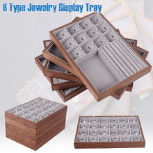 Small Jewelry Box Jewelry Storage Case with Cover Velvet Jewelry Organizer Display Tray for Rings Studs Earrings Watches