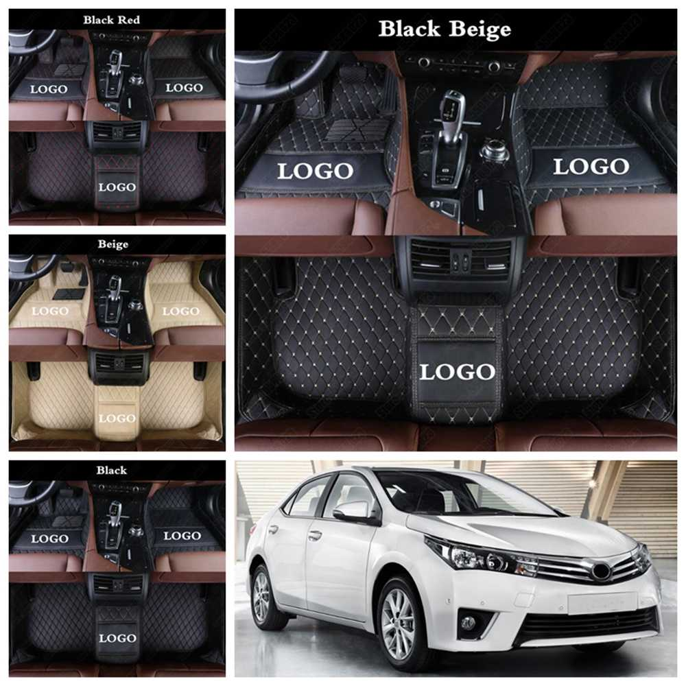 Alfombrillas de coche personalizadas impermeables para Toyota Tacoma C-HR Yaris Tundra FJ Cruiser RAV4 4Runner de cuero alfombras de pie Auto alfombra