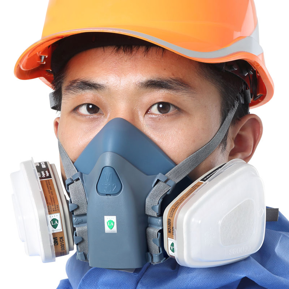 7502 Industrial Dust Mask 3200 Spray Paint Spray Gas Mask Chemical Safety Work Mask Respirator Mask Wth Filter