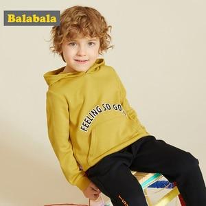 Image 2 - Balabala vêtements dautomne pour enfants, sweat shirt dautomne pour filles et garçons, nouveau style, 2019, vêtements à capuche