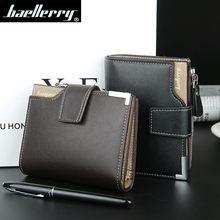 Baellery marca carteira de couro dos homens carteiras bolsa masculina curto embreagem carteira de couro dos homens saco de dinheiro garantia qualidade