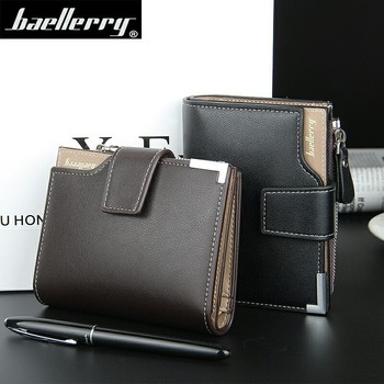 Baellerry Brand Wallet Men Leather Men Wallets Purse Short Male Clutch Leather Wallet Mens Money Bag Quality Guarantee Carteira
