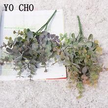 YO CHO Künstliche Pflanze Eukalyptus Blätter Kunststoff Grün Pflanzen Gefälschte Eukalyptus Blätter DIY Hause Hochzeit Wald Stil Dekorationen
