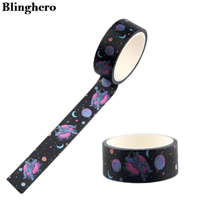 Blinghero 15mmX5m Astronaut Tape Catoon Kids Stationery Tapes Space Washi Tape Masking Tapes ZC0037