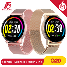BELOONG Q20 חכם שעון לחץ דם קצב לב צג bluetooth ספורט Smartwatch אופנה כושר Tracker צמיד גברים נשים