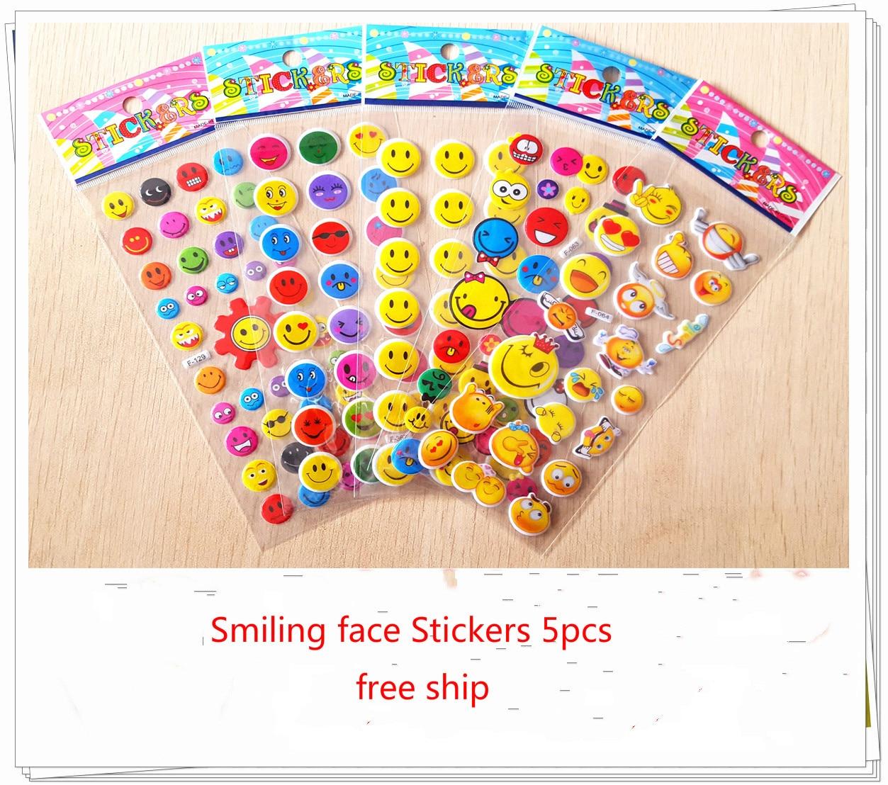 Pack de 5 Stickers Smiley Emoticon