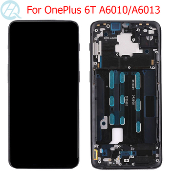 """Original 1+6T AMOLED LCD For Oneplus 6T Display With Frame 6.41"""" One Plus 6T A6010 A6013 LCD Touch Screen Digitizer Assembly"""