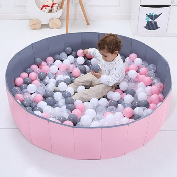 Ocean Ball Pool Kids Home Folding Ball Pool Toys Indoor Fence Baby Bubble Pool Wave Ball Game ColorBall