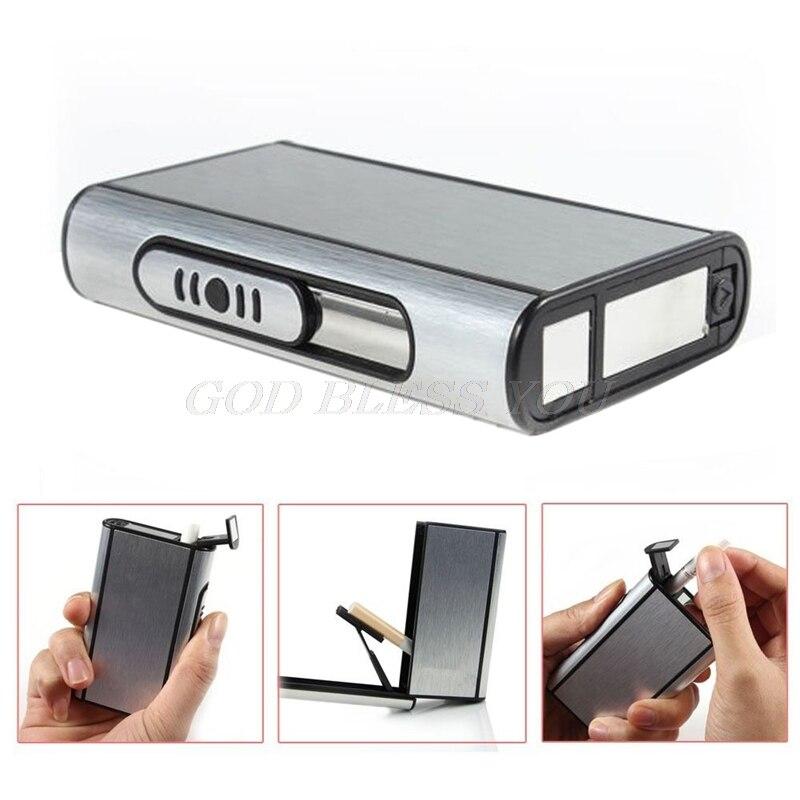 Pocket Aluminum Cigarette Case Automatic Ejection Holder Metal Box New