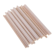 30 Pieces Round Blank Unfinished Balsa Wood Wooden Dowel Rod Pole for Woodcraft Hobbies DIY Craft Airplane Model Building 120mm(China)