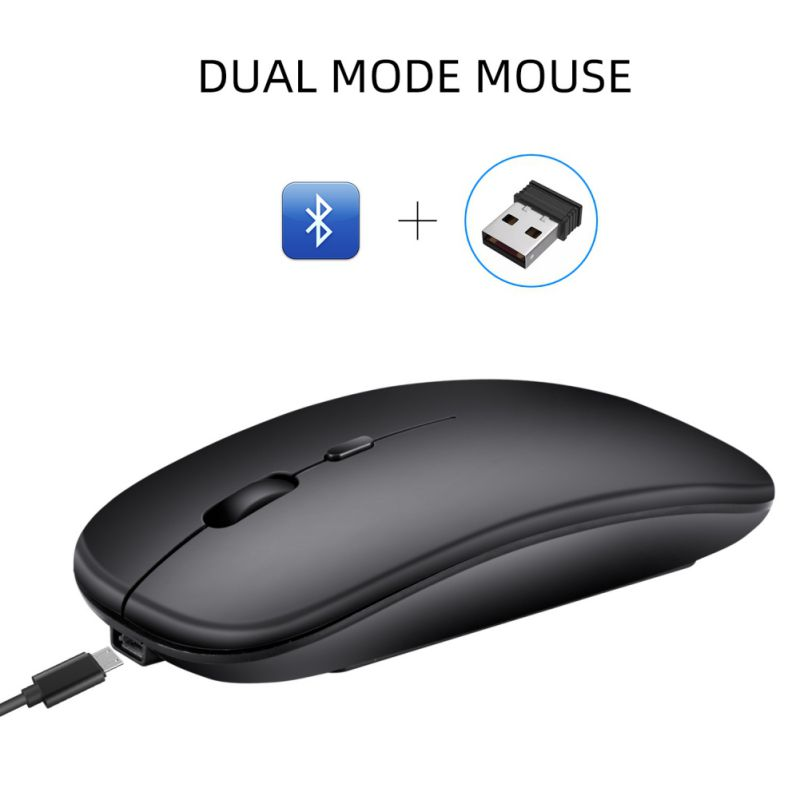 M90 Dual Modus Drahtlose Maus Bluetooth 5,0 + 2,4 Ghz Wireless-Mäuse Für PC Laptop Desktop Für Macbook Matebook image