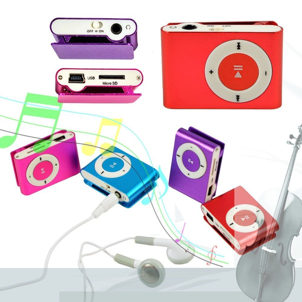 Clip-on Mini Metal TF/SD Slot USB Portable Micro MP3 Player Good Quality Music Player For Running Relaxing