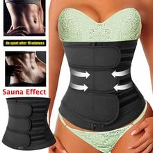 Waist-Trainer Corset Cincher Girdle-Trimmer Shapewear Weight-Loss Tummy-Control Neoprene