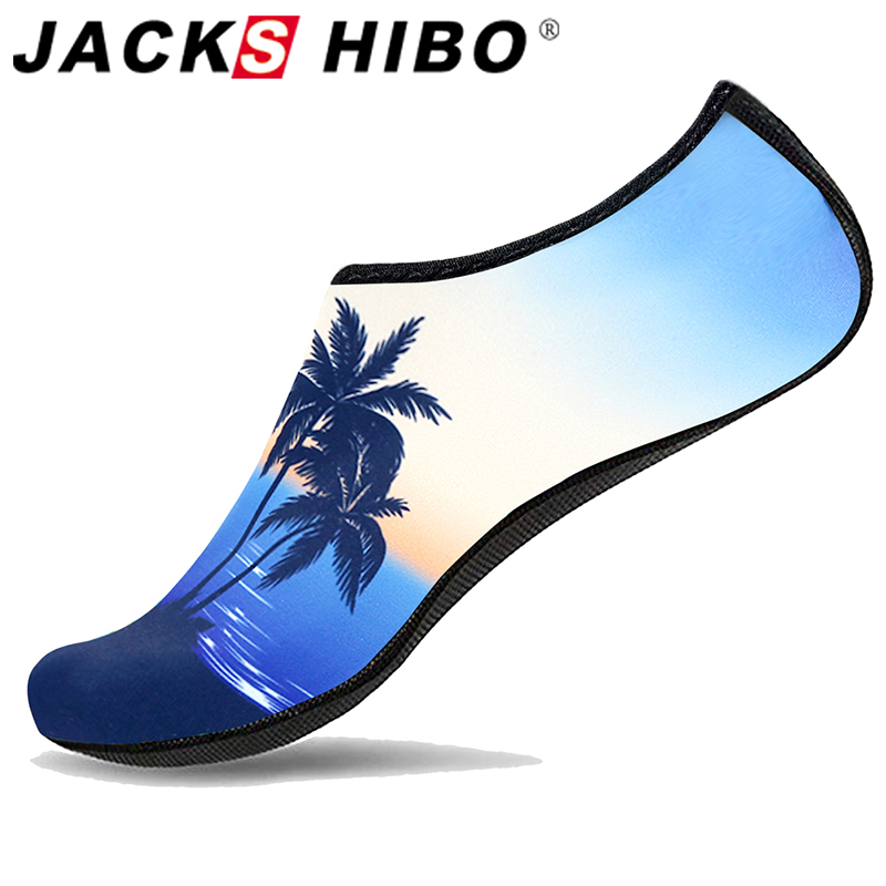 JACKSHIBO Summer Water Shoes For Men Breathable Beach Shoes Adult Unisex Soft Walking Surfing Shoes Hiking Upstream Sneakers
