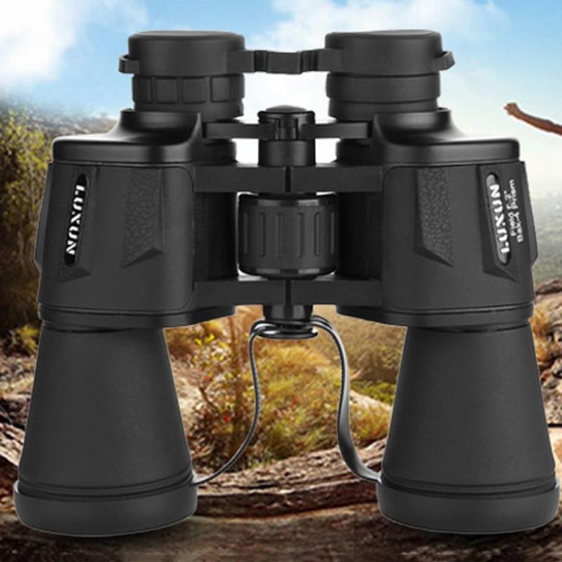 Бинокль Porro Luxun 20x50 с высокой степенью магинификации, военный мощный оптический телескоп с широким углом обзора для охоты на открытом воздух...