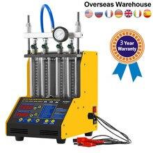 AUTOOL-máquina de prueba de limpieza de inyector de combustible CT150 para coche, limpieza ultrasónica, prueba de 4 cilindros para todo coche, 3 años de garantía